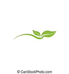 vektor, blatt, einfache , logo, kurven, dynamisch