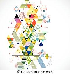 vektor, bunte, abstrakt, abbildung, kreativ, hintergrund, geometrisch