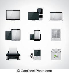Vektor-Computer-Icon-Set