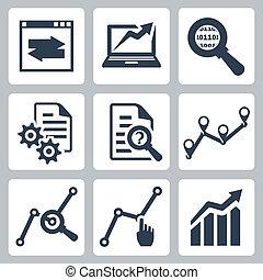 Vektor-Datenanalyse Ikonen eingestellt