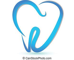 Vektor eines stylisierten Zahns