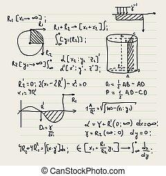vektor, formulas., hintergrund