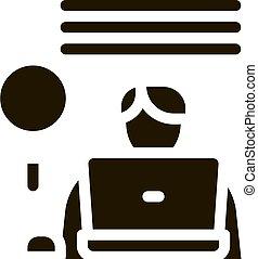 vektor, glyph, menschliche , abbildung, ikone, forschung