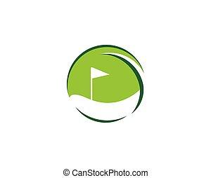 vektor, golfen, ikone, symbol