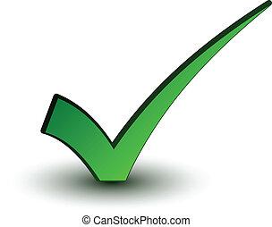 Vektor grün positiv