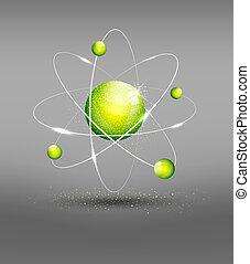 vektor, hintergrund, atom