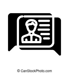 vektor, ikone, abbildung, menschliche , glyph, diskussion