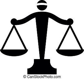 Vektor-Ikone der Justizskala