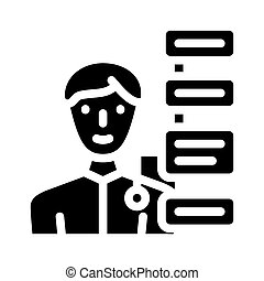 vektor, ikone, qualities, abbildung, menschliche , glyph