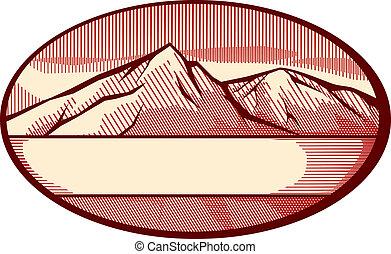 Vektor Illustration der Berge