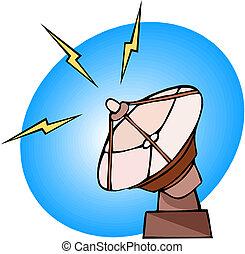 Vektor-Illustration der Radarschüssel