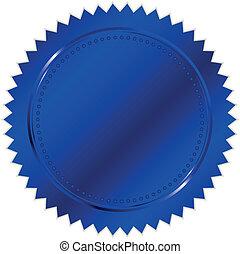 Vektor Illustration des blauen Siegels