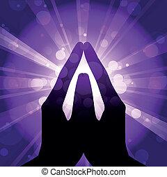 Vektor Illustration des Gebets