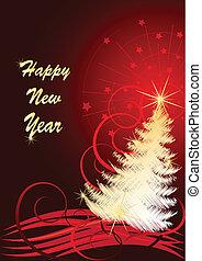 Vektor Illustration für das neue Jahr