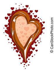 Vektor Illustration von Schokolade