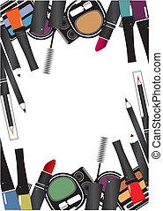 Vektor-Illustrationen von isolierten Kosmetika machen einen weißen Hintergrund wett