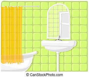 Vektor illustriert das Badezimmer