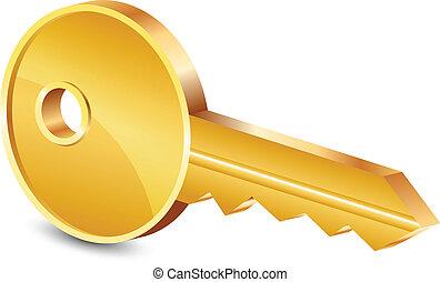 Vektor illustriert den Goldschlüssel