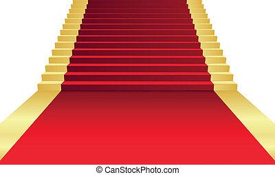 Vektor illustriert den roten Teppich