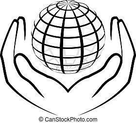 Vektor illustriert die Hände
