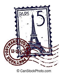 Vektor illustriert einzelne Pariser Ikone