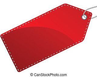 Vektor illustriert einzelne rote Etiketten