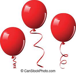 Vektor illustriert rote Ballons