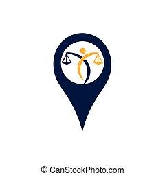 vektor, logo., punkt, notary, dienstleistungen, gesetzlich, gerechtigkeit, oder, besitz, justice., skala, ikone, symbol, bildung, rechtsanwalt, menschliche , stift