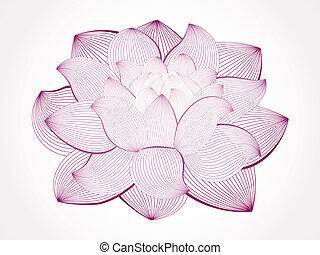 Vektor Lotusblüte isoliert auf der Witterung