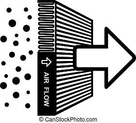 Vektor-Luftfilter-Symbol.
