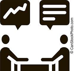 vektor, menschliche , abbildung, besprechen, ikone, glyph