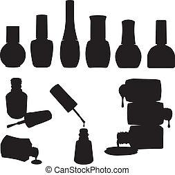 Vektor Nagellackflaschen.