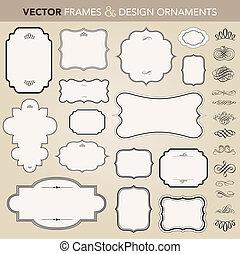 Vektor-Ornate-Rahmen und Zierde-Set