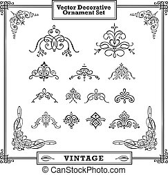 Vektor-Ornate-Swirl-Ornament-Set