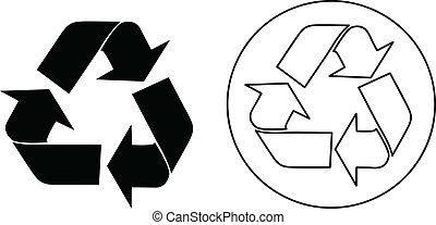 Vektor-Recycle-Zeichen