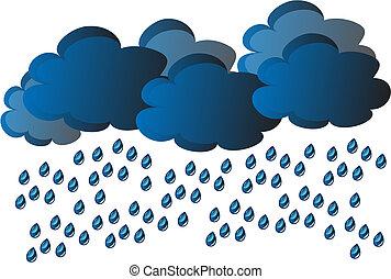 vektor, regen