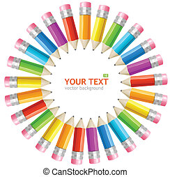Vektor-Regenbogen-Bleistifte