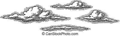 Vektor-Retrowolken