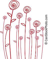 vektor, rote rosen