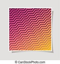 vektor, steigung, orange, design, gestreift, rosa, rahmen, hintergrund