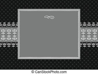 Vektor weißes Bandbild