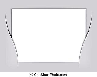 Vektor, weißes Rechteckpapier