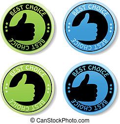 Vektoraufkleber - beste Wahl