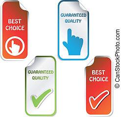 Vektoraufkleber - garantierte Qualität, beste Wahl