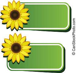 Vektoraufkleber und Sonnenblume