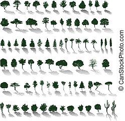 Vektorbäume mit Schatten
