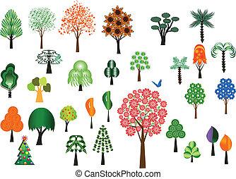 Vektorbäume sammeln