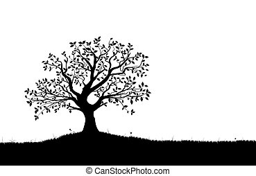 Vektorbaum-Silhouette, Vektor