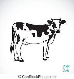 Vektorbild einer Kuh.