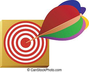 Vektorbild eines Pfeils und des Ziels